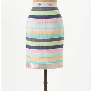 Tracy Reese Anthropologie Delicata Linen Skirt